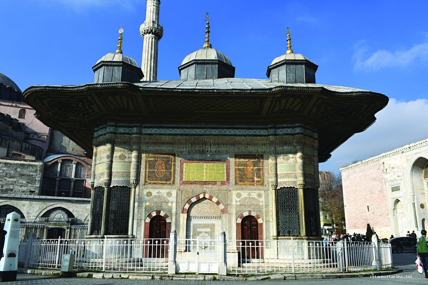 4- Sultan Ahmet III Fountain (Topkapı)